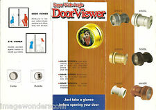 Door Viewer, Peephole, 4 Diff. Colors w/ Hole Saw (Gold, White, Brown & Dark Gr)