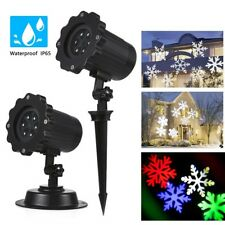 Outdoor Snowflake Projector Moving Lamp Spike Light Landscape Garden Party Light