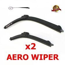"Windscreen Flat Aero wiper blades 21""19"" retro u-hook for VW Golf, Lupo, Polo"
