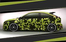 Camouflage Aufkleber Set Cyber Pixel Autotattoo Auto Sticker Tuning JDM 7.2098