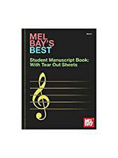 Mel Bay's Best Student Manuscript Book. Sheet Music for All InstrumentsVery Good