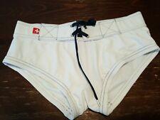 andrew christian mens swimwear , White, MEDIUM
