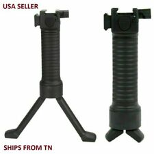 Spring Loaded  6''-9'' Universal Rifle Bipod & Rail Mount Adapter w/3 slot rail