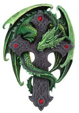 NIB WOODLAND GUARDIAN DRAGON PLAQUE BY ANNE STOKES C/16