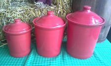 FIESTA WARE  CANISTER SET med small large CROCK scarlet NEW