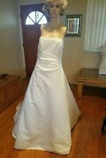 Private Collection wedding dress size 16 ivory/silver beading style 8824