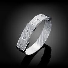 Damen Gürtel Armband Silver Vintage 925 Silber pl. Schmuck Geschenk 07