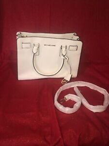 MICHAEL KORS Shoulder Bag Satchel Purse Ivory color New!