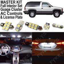 32x White LED lights interior package + AC & Gauge cluster 1992-1999 Tahoe/Yukon