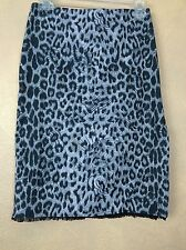 Rampage Leopard over Dragon Print Pencil Sexy Side Vent Skirt Size 3