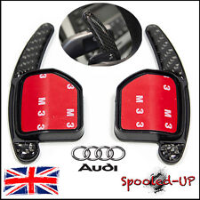 AUDI A3 S3 8P TT A1 S1 A5 Q5 Q7 A8 2007-11 CARBON FIBRE PADDLE SHIFT EXTENSIONS
