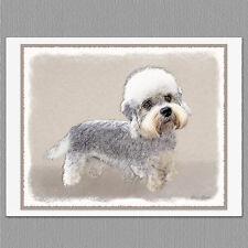 6 Dandie Dinmont Terrier Dog Blank Art Note Greeting Cards