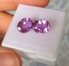 4.55ct. 9x7 mm. Double!! Oval Light Purple Sapphire Gemstone, Excellent Cut AAA+