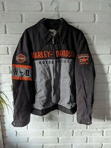 Mens Harley-Davidson Iron Block Legendary Motorcycle Highway One Full Zip Jacket