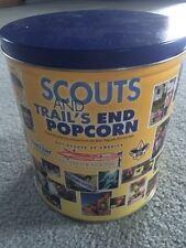 EUC! Trail's End Large Round Popcorn Tin Best Popcorn Pix 1901-2000!!