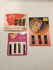 Vintage Bobby Pins on Cards: Gaylord Harlow Springrip, Hair Care Beauty Lot of 3