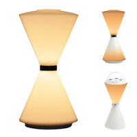Rechargeable LED Desk Lamp Touch Table Dimmable Hourglass Night Light Bedroom US