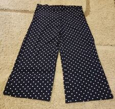 Adrienne Vittadini Women's Capri Pants  Size M Blue White (O2)