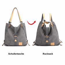 1f75c15b22dd3 Damen Canvas Vintage Schultertasche Rucksack Shopper Tasche Multifunktion