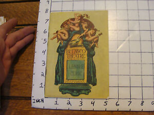 Vintage Program: BELASCO THEATRE: Lenore Ulric --amazing ads in this one 1929