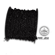 BLACK GLOSS 3mm 10 mtr Wedding Bridal Cake Decoratn Pearls Fused Beads on String