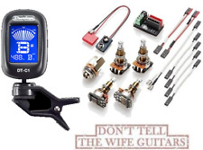 EMG Solderless Conversion Wiring Kit 1-2 Active Pickups LONG SHAFT Pots & TUNER