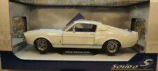 WHITE 1967 FORD SHELBY GT500 1:18 AND 1:64 SCALE DIECAST METAL MODEL CARS