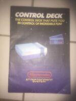 Nintendo NES: Control Deck System Console REV-3 Instruction Book Manual
