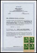 SBZ-Thüringen 4rer Block UR  Nr:95AXar Gestempelt  Attest BPP Schulz--KW 2800,-€