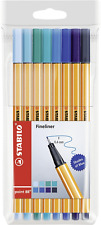 """Stabilo Fineliner 0.4 mm Point 88 """"Shades of Blue"""" Pack of 8"""