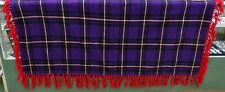 "Vintage Native American Pendleton Wool Shawl Plaid Purple Red Hatter 65""x 57"""