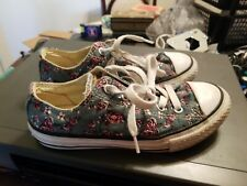 Converse Women Girl All Star Fashion Sneaker Floral Roses Print Size 1