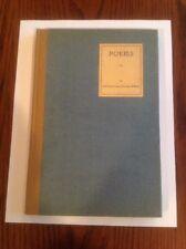 POEMS BY CATHERINE POYAS RAVENEL WALKER 1934 LTD. Edition Private PUB. 1934 1st