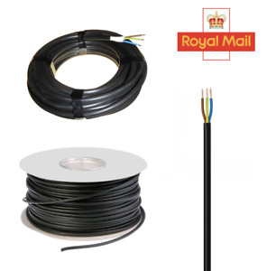 3 Core Round Black Flex cable 0.75mm 3183Y PVC Extension Wiring Cable Wire