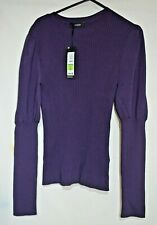 M & S Autograph Smart Black Berry Knitted Blouse/jumper UK 12 RRP £39