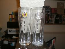 PAIR OF FOSTERS NEW LAGER  PINT GLASSES CIDER LAGER BEER ALE GLASSES
