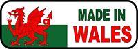 Wales Welsh Flag Made in Wales Car Van Caravan Exterior Vinyl Sticker Decals