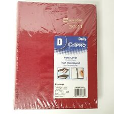 Brownline 2021 Daily Planner Coilpro Hard Cover Cb389c Red 825x575 Inch