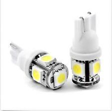 2 PCS 360°Xenon White T10 Wedge 5-SMD W5W 2825 158 168  192 194 LED Light bulbs