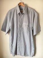 """Espace Size XL 46"""" Grey Short Sleeve Polyester Mix Shirt <T12178z"""