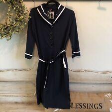 NWT Women's Rockabilly Dress Yizoo Size XXL Body Con Retro Navy Pinup Style