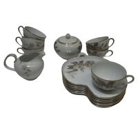 Noritake China Snack Plate Tea Set  #5142 LASALLE Floral Decoration