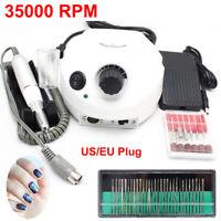 Electric Nail Manicure Machine 30Pcs Drill Bits 35000 RPM Drill Machine