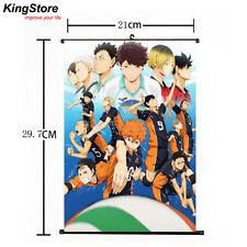 Japan Anime Haikyuu Shoyo Hinata Shonen Home Decor Poster Wall Scroll 21*30cm 01