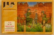Bum 1/32 Mortar Squad WWll Set U S Soldier Figures W Accessories Model Kit