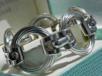 EXQUISITE✨ VTG 54g sterling silver 925 HENKEL & GROSSE Germany designer bracelet