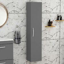 Modern 300mm Wall Hung Bathroom Cabinet Shelf Cupboard Storage Unit Grey Gloss