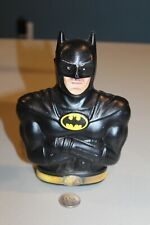 Vintage 1989 Batman Plastic Coin Bank with Soft Glow Night Light Offer Sticker