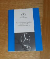 Mercedes Price Guide 1993 R129 SL W140 SEC SEL W124 Coupe 500E Cabriolet Options