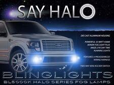 White Angel Eye Halo Fog Lamps Driving Lights Kit for 2009-2014 Ford F150